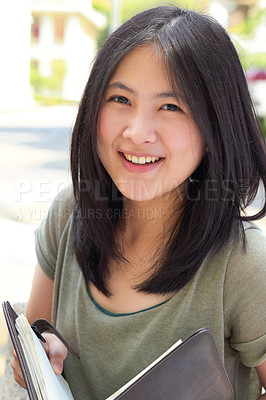 Buy stock photo Portrait of an attractive young university student
