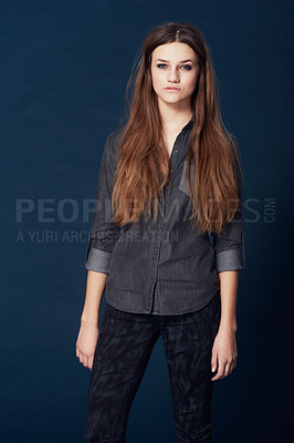 Buy stock photo A pretty young model flaunting her style and looks in studio