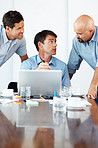 Business people planning work at meeting in office