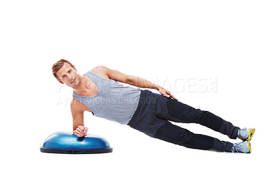 Buy stock photo Studio shot of young people working out