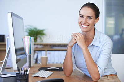 Buy stock photo Cropped shot of an office environment