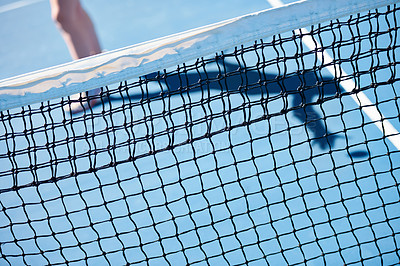 Buy stock photo A close up of a tennis net