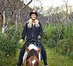 Horse riding in the outback