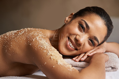 Buy stock photo Closeup shot of a young woman relaxing during a spa treatment