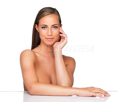 Buy stock photo A young woman looking at the camera