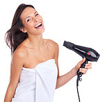 The hair-dryer: her favorite beauty equipment