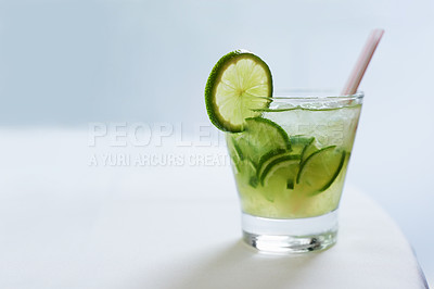 Buy stock photo A beautifully decorated cocktail