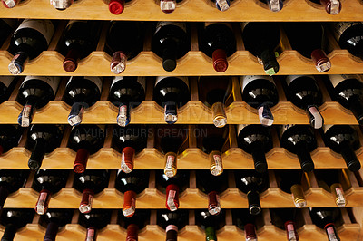 Buy stock photo A collection of wine in a cellar
