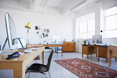 Buy stock photo Shot of an empty office