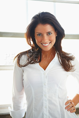 Buy stock photo Portrait of a sexy young woman posing
