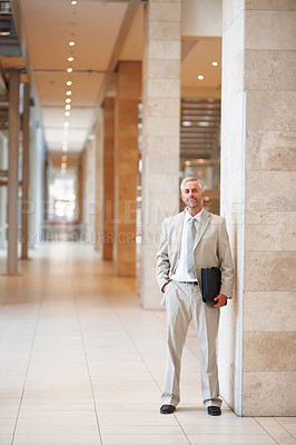 Buy stock photo Full length portrait of an attractive confident business man