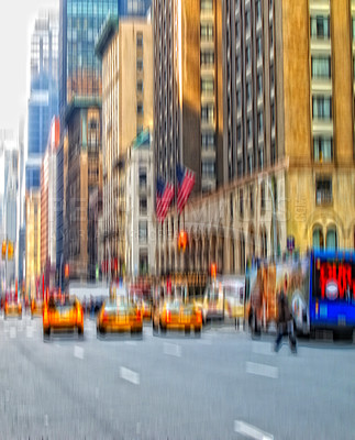 Buy stock photo An image of street life at Manhattan, New York