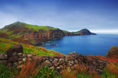 Buy stock photo Madeira island landscape - natural wonders of Portugal