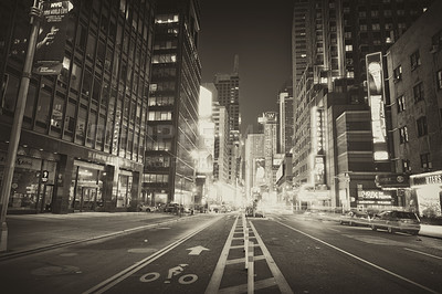 Buy stock photo MANHATTAN AT NIGHT - CENTER OF ATTENTION