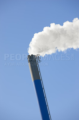 Buy stock photo A sharp photo of industrial chimney