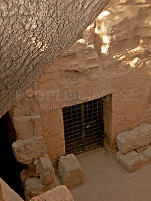 Buy stock photo A photo of the Tombs of the Kings (Paphos) Cypres