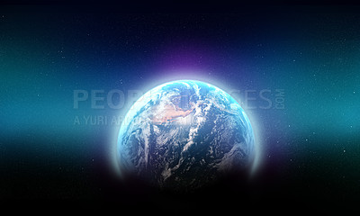 Buy stock photo Shot of planet earth showing north america - ALL design on this image is created from scratch by Yuri Arcurs'  team of professionals for this particular photo shoot