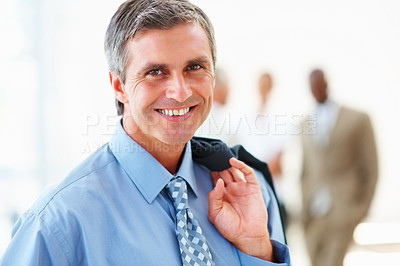 Buy stock photo Portrait of a handsome mature business man