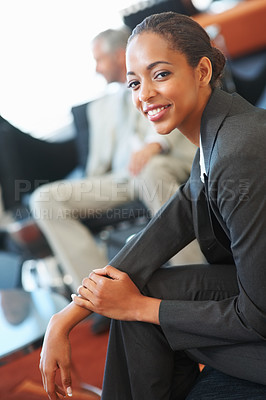 Buy stock photo Portrait of an African American business woman