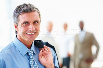Buy stock photo Portrait of a smart professional business man