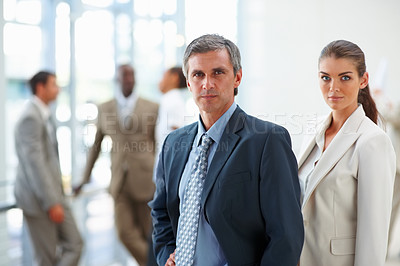 Buy stock photo Portrait of successful business man and woman