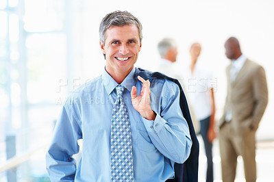 Buy stock photo Portrait of an ambitious professional business man
