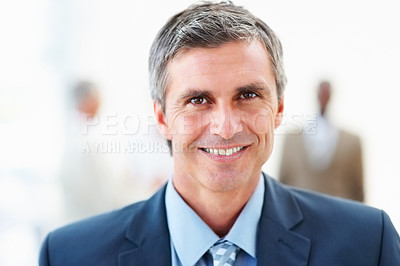 Buy stock photo Portrait of a successful mature business man