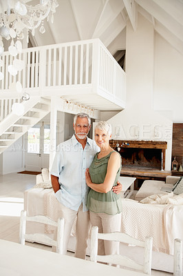 Buy stock photo Stylish senior couple in their sophisticated home