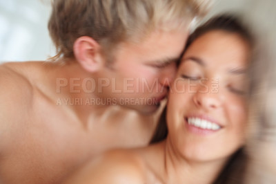 Buy stock photo Happy couple during the act of sexual intercourse