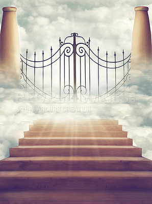 """Buy stock photo Shot of the """"Pearly Gates"""" of Heaven"""