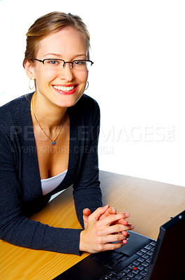 Buy stock photo A young business woman