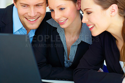 Buy stock photo Workgroup Browsing the internet
