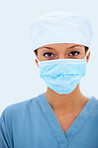 Female surgeon doctor getting ready for operation