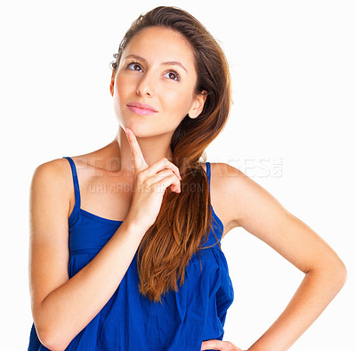 Buy stock photo Woman posing with hand on hip