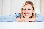 Cheerful business woman smiling