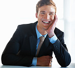 Business man with charming smile