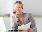 Young beautiful business woman smiling