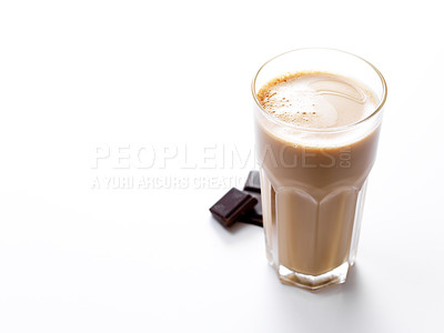 Buy stock photo Close-up of a delicious glass of coffee