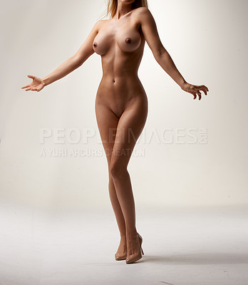 Buy stock photo After countless requests from customers, Cecilie decides to drop it all for the first time in 8 years of professional modeling and for peopleimages.com only. So here she is, completely naked and why not… when you look like this.