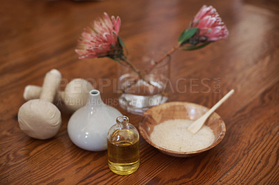Buy stock photo A spa arrangement designed to calm and relax as well as beautify