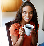 Beginning her day with a fresh cup of coffee