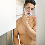 I never shave without shaving cream