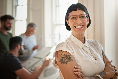 Buy stock photo Portrait of a confident young woman leading a