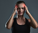 Headaches occur during or after sustained and vigorous exercise