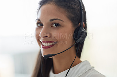 Buy stock photo Shot of customer service representatives at work