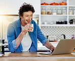 Coffee and the internet - two of his favourite things