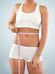 Reaching her tummy weight loss target