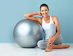 This exercise ball is part of every workout
