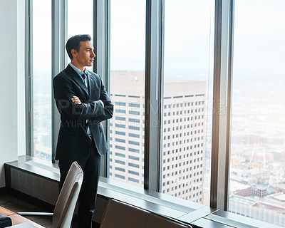 Buy stock photo Shot of mature businessmen working in a corporate office