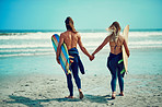 We surf together